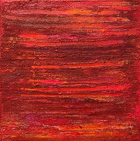 red flag, 40 x 40 x 6 cm